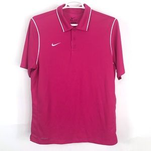 Nike Pink Dri-Fit Golf Polo Men's Large